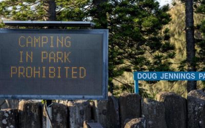 Illegal campers in Doug Jennings Park told to move out or face fines